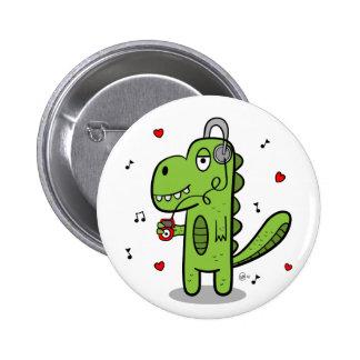 Botón del dinosaurio de Rockosaur Pin