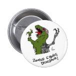 Botón del dinosaurio del Cyborg del zombi Pin