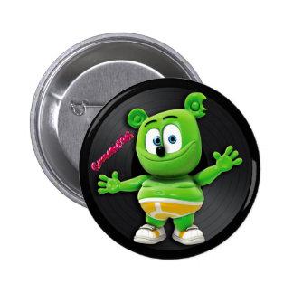 Botón del disco de vinilo de Gummibär DJ Pin Redondo De 2 Pulgadas