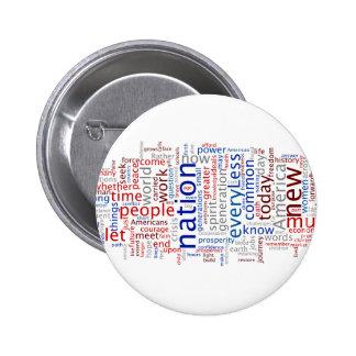 Botón del discurso de la inauguración de Obama Pin