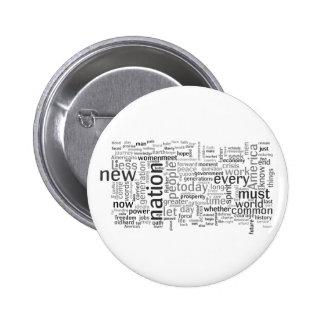 Botón del discurso de la inauguración de Obama Pin Redondo De 2 Pulgadas