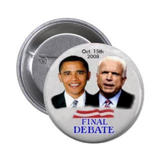 Botón del discusión de Obama/de McCain Pins