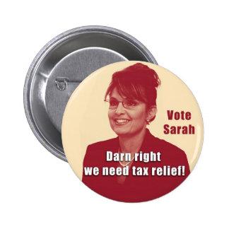 Botón del discusión de Sarah Pin
