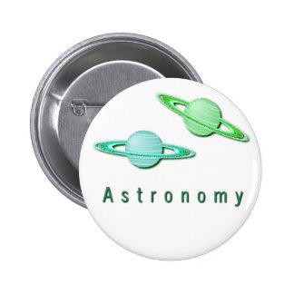 Botón del diseño de la astronomía pins