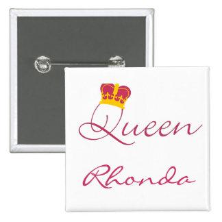 Botón del diseño de la reina pin cuadrado