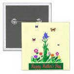 Botón del diseño del día de madres pin