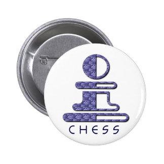 Botón del diseño del empeño del ajedrez pin