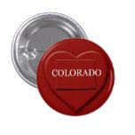 Botón del diseño del mapa del corazón de Colorado Pin