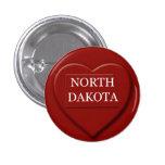 Botón del diseño del mapa del corazón de Dakota de Pins