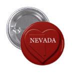 Botón del diseño del mapa del corazón de Nevada Pin