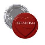 Botón del diseño del mapa del corazón de Oklahoma Pin