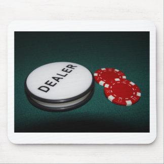Botón del distribuidor autorizado del póker alfombrillas de raton