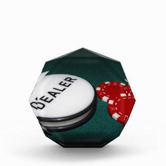 Botón del distribuidor autorizado del póker