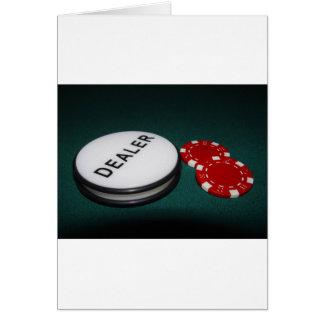 Botón del distribuidor autorizado del póker tarjeta de felicitación