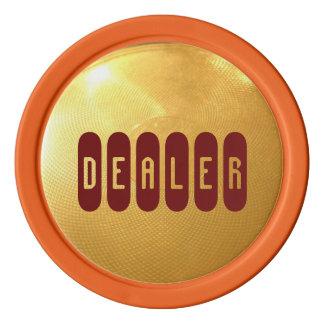 Botón del distribuidor autorizado fichas de póquer