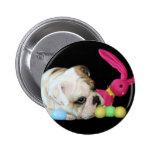Botón del dogo de Pascua Pin Redondo De 2 Pulgadas