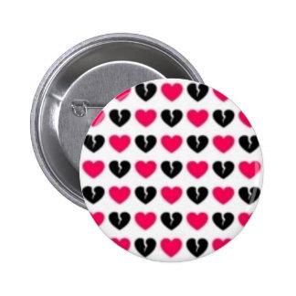 Botón del dolor/de los corazones quebrados pin redondo de 2 pulgadas