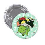 Botón del dragón del sushi del vuelo pin redondo de 1 pulgada
