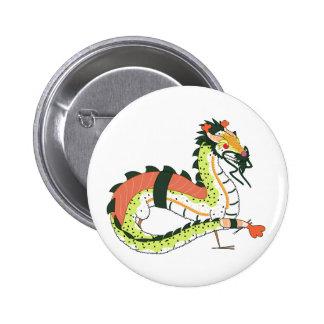 Botón del dragón del sushi pin