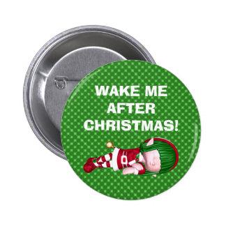 Botón del duende del navidad pins