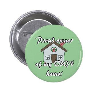 Botón del dueño de la casa pin redondo de 2 pulgadas
