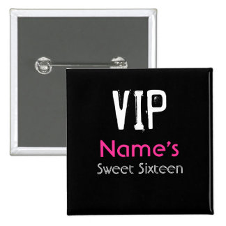 Botón del dulce dieciséis del VIP
