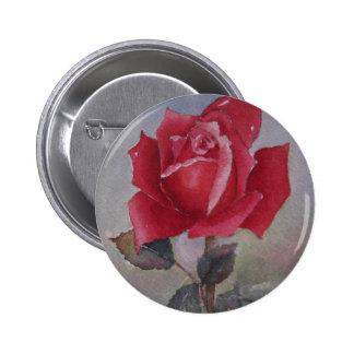Botón del el día de San Valentín del rosa rojo Pins