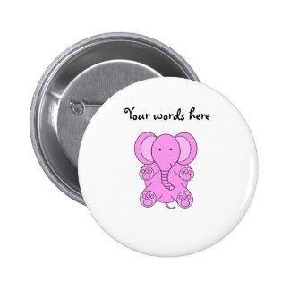 Botón del elefante de rosas bebés pin redondo de 2 pulgadas