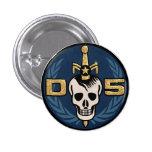 Botón del emblema del peligro 5 pin