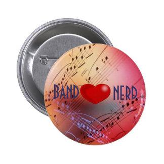 Botón del empollón del *heart* de la banda pin redondo de 2 pulgadas
