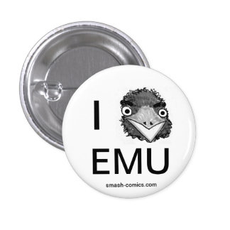 Botón del Emu Pin Redondo De 1 Pulgada