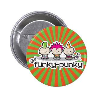Botón del Enrrollado-Punky Pin Redondo De 2 Pulgadas