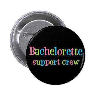 Botón del equipo de la ayuda de Bachelorette Pin Redondo De 2 Pulgadas