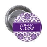 Botón del equipo de la orquídea de la novia oscura pins