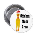 Botón del equipo del modo del pollo pins