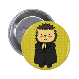 Botón del erizo de Alyosha Karamazov Pin Redondo De 2 Pulgadas