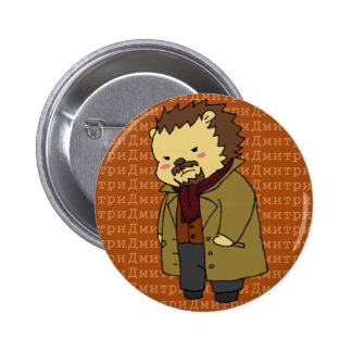 Botón del erizo de Dmitri Karamazov Pin Redondo De 2 Pulgadas