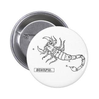 Botón del escorpión del zodiaco pins