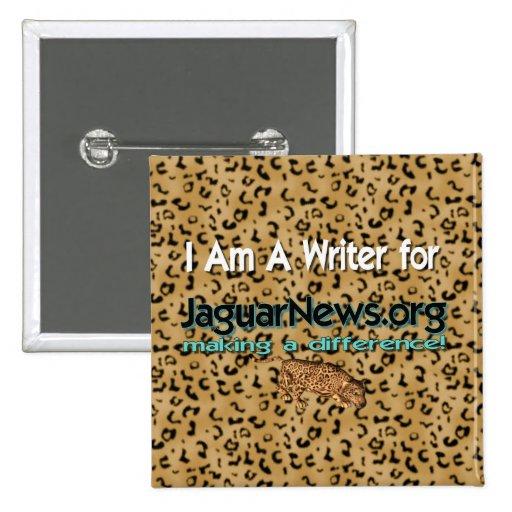 Botón del escritor de las noticias de Jaguar Pins