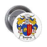 Botón del escudo de la familia de Bandres Pins