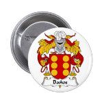 Botón del escudo de la familia de Banos Pin