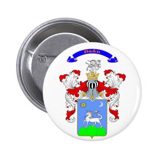 Botón del escudo de la familia de la prohibición pin