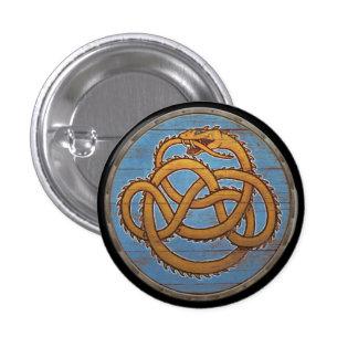 Botón del escudo de Viking - Jörmungandr Pin Redondo De 1 Pulgada