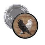 Botón del escudo de Viking - los cuervos de Odin Pins