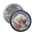 Botón del escudo de Viking - oso polar Pins
