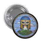Botón del escudo de Viking - Valhalla Pin