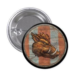 Botón del escudo de Viking - verraco Pin Redondo De 1 Pulgada