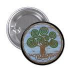 Botón del escudo de Viking - Yggdrasil Pin