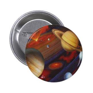 Botón del espacio pin redondo de 2 pulgadas