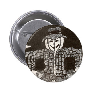 Botón del espantapájaros de la calabaza pin redondo de 2 pulgadas